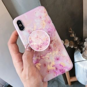 Accessories - *NEW iPhone X/XS/78/Plus/Max/XR Marble Holder Case